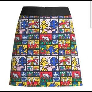 Alice & Olivia x Keith Haring Skirt
